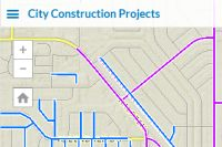 Public Works Construction Interactive Map